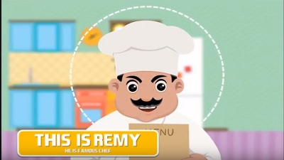 Restaurant animated video template