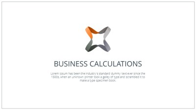 Business Calculations video Template