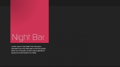 Night Bar Video template